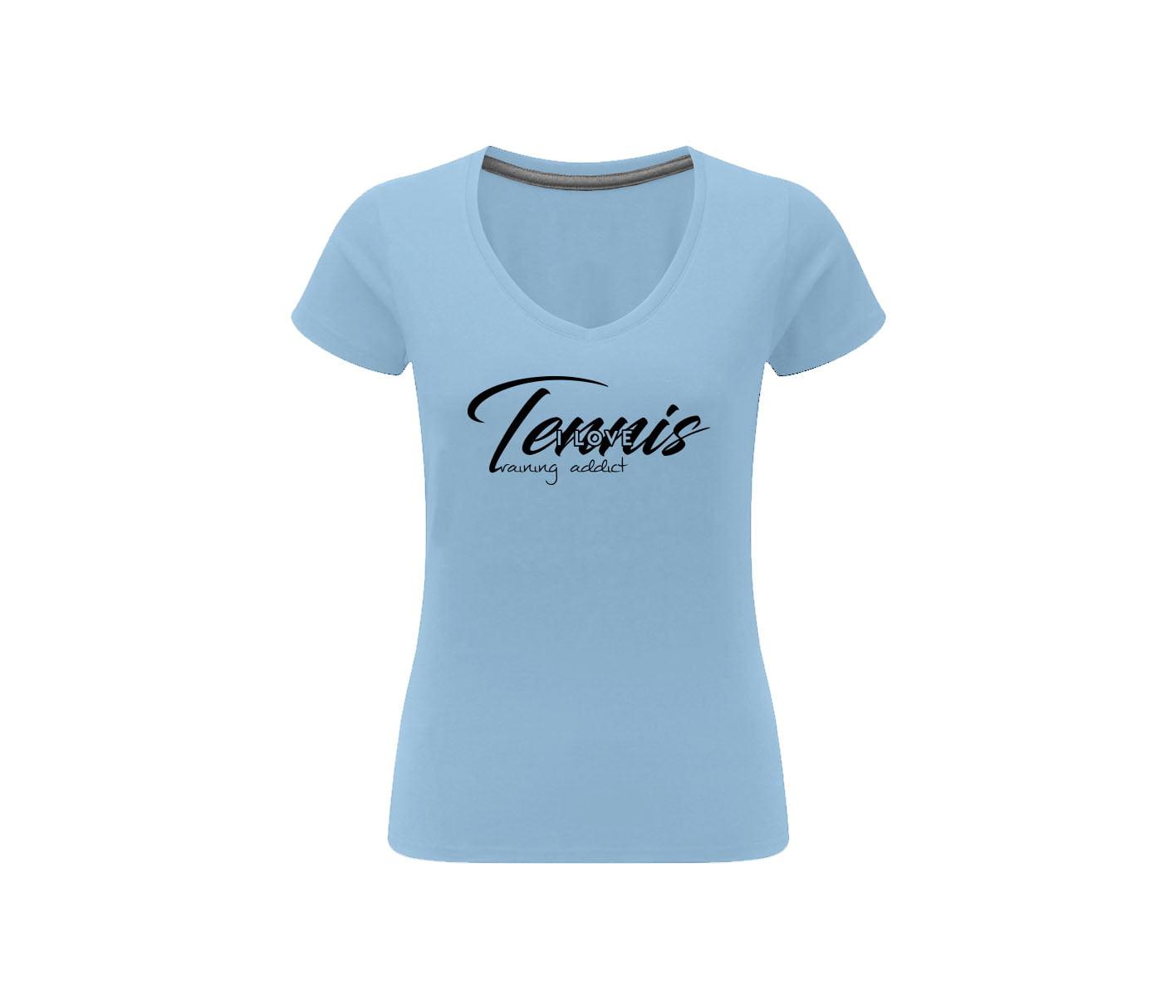 t shirt coton sober i love tennis training addict shop. Black Bedroom Furniture Sets. Home Design Ideas
